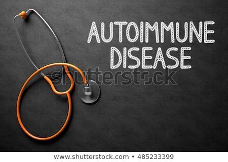 Chalkboard with Autoimmune Disease Concept. 3D Illustration. Stock photo © tashatuvango