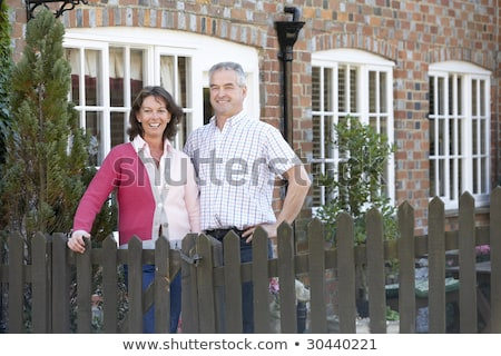 Farmer And Wife Standing In Front Of Farmhouse Stock photo © monkey_business