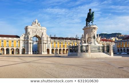 gazdaság · tér · Lisszabon · Portugália · kék · utazás - stock fotó © luissantos84