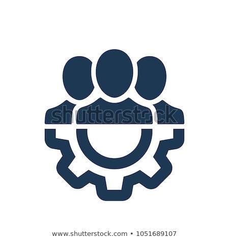 Squadra manager vettore icona stile Foto d'archivio © ahasoft