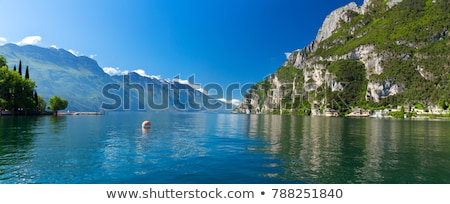 Panorama over Lake Garda Stock photo © backyardproductions