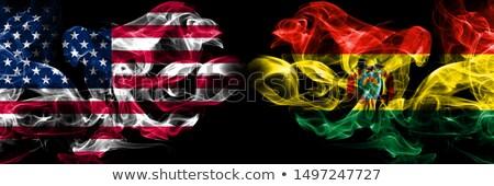 Futball lángok zászló Bolívia fekete 3d illusztráció Stock fotó © MikhailMishchenko
