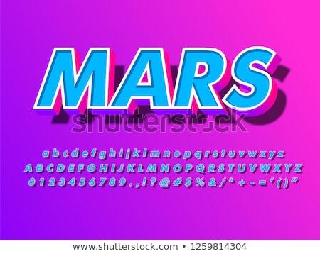 Moderne display alfabet doopvont paars borden Stockfoto © adrian_n