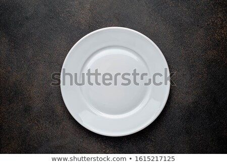 clean white plate and cutlery Stock photo © M-studio
