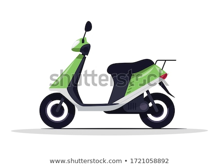 Classic moped isolated on white icon Stock photo © studioworkstock
