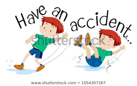 ragazzo · incidente · illustrazione · medici · bambino · arte - foto d'archivio © bluering