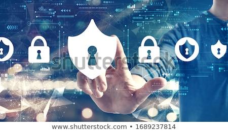 Сток-фото: онлайн · безопасности · безопасности · компьютер · Код · сеть