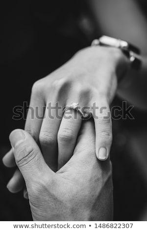 Stock photo: Man proposing to woman