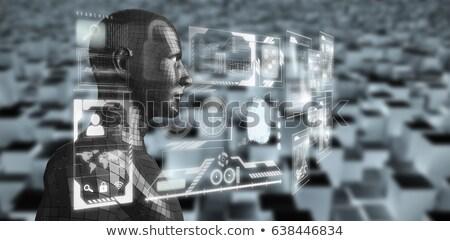 изображение серый 3d человек профиль мнение Сток-фото © wavebreak_media