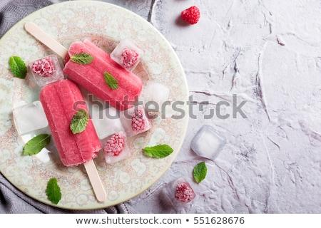 Homemade Raspberry popsicles Stock photo © Melnyk