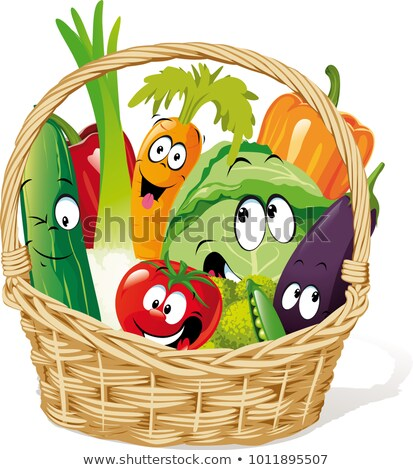 mascot basket vegetables stock photo © lenm