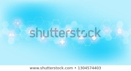absztrakt · molekulák · tudomány · egészségügy · orvosi · háttér - stock fotó © SArts