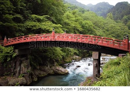 Foto stock: Ponte · santuário · Japão · ver · água