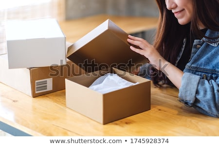 送料 ボックス カートン 孤立した 白 ストックフォト © timurock