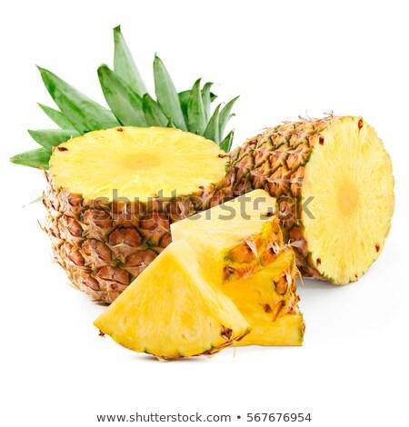 Geel ananas boven shot gesneden Stockfoto © dash