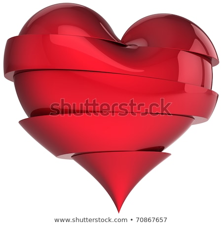 Sliced red heart 3D Stock photo © djmilic