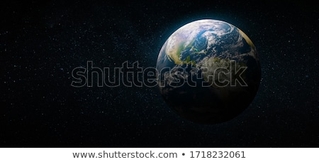 Photo stock: Bleu · planète · terre · main · humaine · écologie · monde · environnement