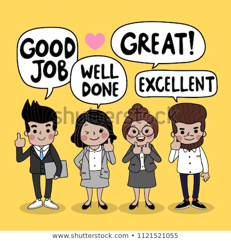 teamwork and great team set vector illustration stock photo © robuart