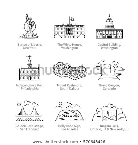 Colorado USA symbool icon textuur kaart Stockfoto © kyryloff