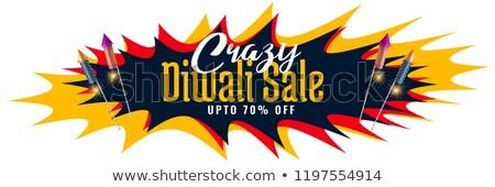 Loco diwali venta resumen banner cohete Foto stock © SArts