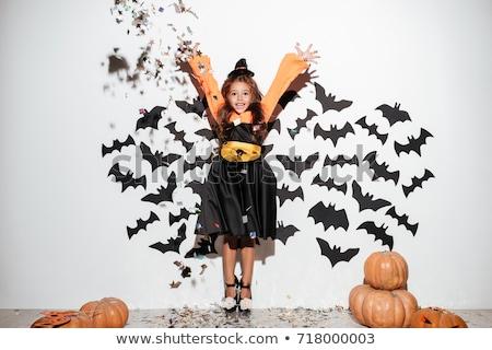 Glimlachend weinig bat cartoon illustratie vleugels Stockfoto © cthoman