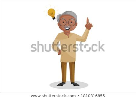 Cartoon człowiek pomysł piżama Zdjęcia stock © cthoman