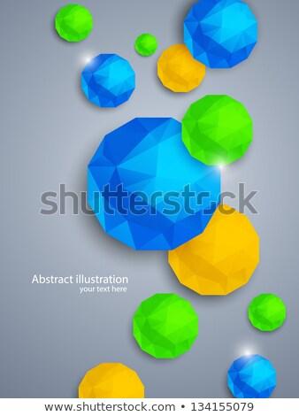 abstract geometry polygon ball green circle background vector stock photo © blaskorizov