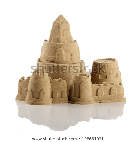 Isolated sand castle on white background Stock photo © bluering