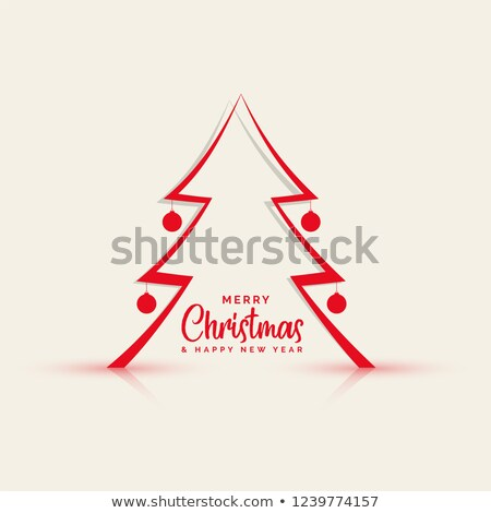 papercut style line christmas tree background Stock photo © SArts