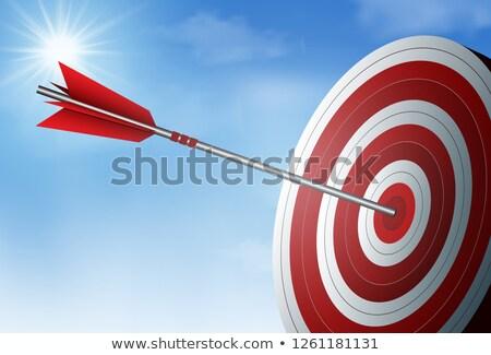 Bullseye with arrows on dartboard Stock photo © colematt