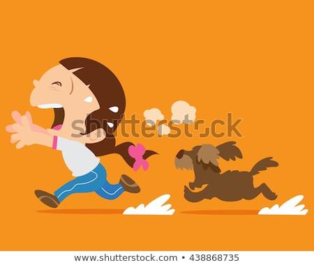 Cartoon Angry Thief Boy Stock photo © cthoman