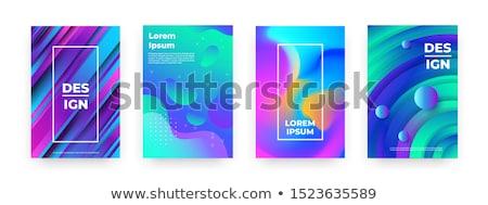 Dynamisch kleurrijk trillend golf abstract achtergrond Stockfoto © SArts
