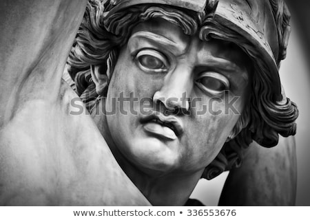Statue Rape of Polyxena in Loggia dei Lanzi in Florence Stock photo © boggy