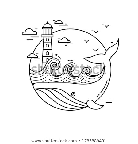 Animal outline for whale Stock photo © colematt
