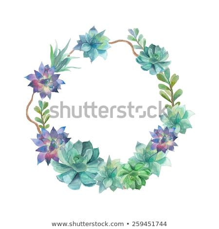 azul · bandeira · flores · folhas · ornamento · natureza - foto stock © robuart