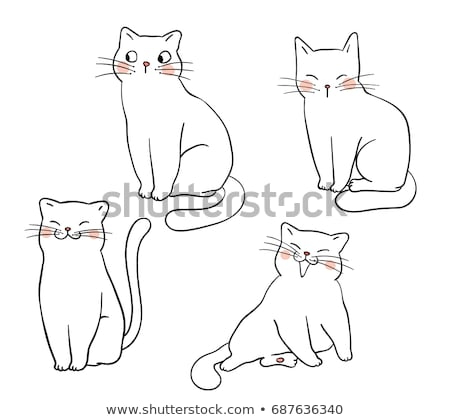 Cute cat cartoon actions Stock photo © watcartoon