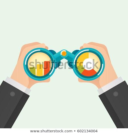 zakenman · kijken · groei · grafiek · verwonderd · denken - stockfoto © cifotart