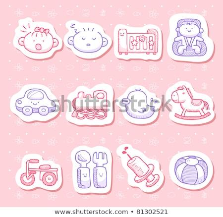 Color Sketch Baby Dummy Stock photo © netkov1