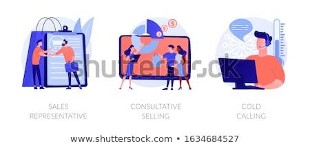 Cold calling concept vector illustration. Stock photo © RAStudio
