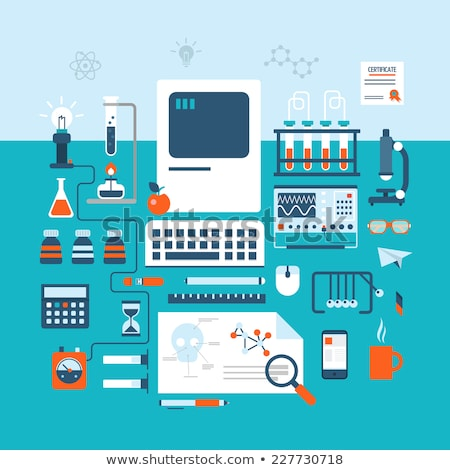 Biotechnology concept with medical technology devices Stock photo © ra2studio