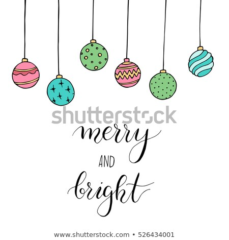 Jingle Bells, Best Wishes, Merry Bright Lettering Stock photo © robuart