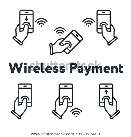 nfc vector tap to pay nfc technology wireless phone payment money translation illustration stock photo © pikepicture