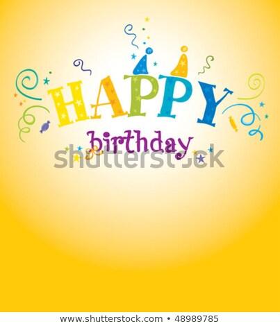 рождения Cap конфетти взрыв бумаги счастливым Сток-фото © SArts