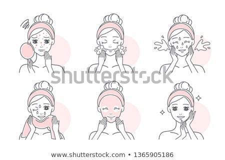 brufolo · ragazza · guancia · donna · faccia · triste - foto d'archivio © olllikeballoon