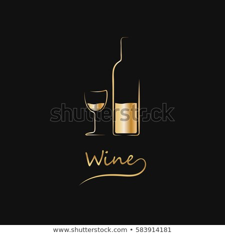 alcohol menu with bottles stock photo © biv
