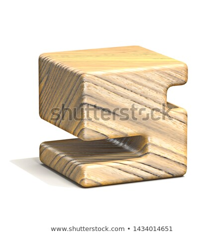 Solido legno cubo carattere numero cinque Foto d'archivio © djmilic