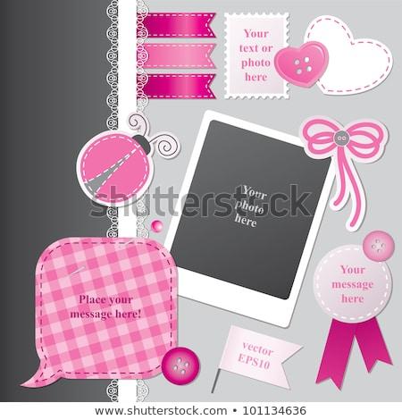 Circle Speech Bubble Pink Seam Stock photo © limbi007
