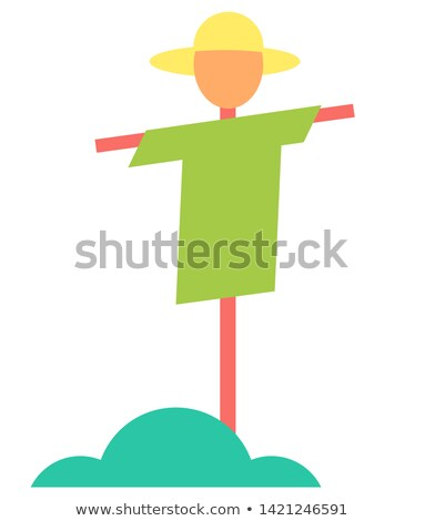 Scarecrow Bush Icons Closeup Vector Illustration Stock photo © robuart