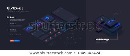Сток-фото: вектора · мобильных · приложение · создание · иллюстрация · программное