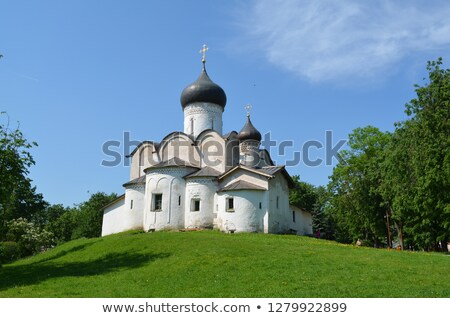 Basil Church on the Hill, Pskov stock photo © borisb17